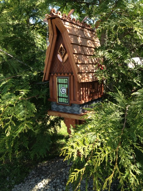 Forest fairy mailbox woodland gnome house grandparents for Little fairy mailbox